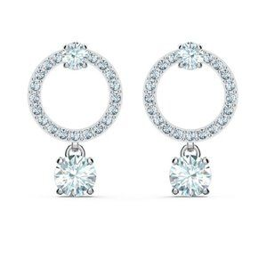 Swarovski ATTRACT bright circle earrings